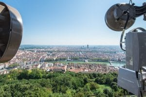 Antennes radio sur ville
