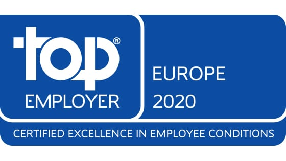 Logo certification top employer Europe 2020